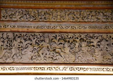 Bali arts plaster high Relief sculptural technique in Asian temple