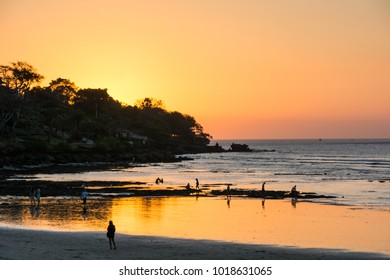Bali is famous for its wonderful sunset you can enjoy layed on the beach.