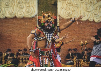 Bali, Indonesia - February 15, 2018: Bali Nusantara Dance performed at Garuda Wisnu Kencana Cultural Park or GWK, a cultural park located at Ungasan Bali.