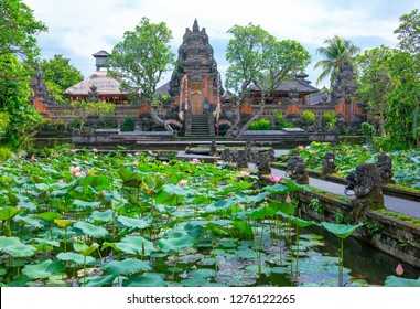 Bali, Indonesia, the gardens of the Goa Gajah temple