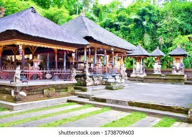 Bali, Indonesia - January, 2020: Pura Gunung Kawi Sebatu Tample in Ubud Province, Bali Island, Indonesia