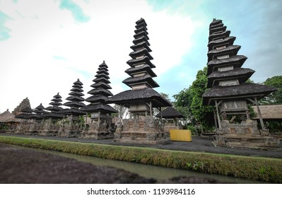 BALI INDONESIA - JULY 14, 2018 Taman Ayun Temple is a royal temple of Mengwi Empire located in Mengwi. This place is one of the destination for travel. It's taditional balinese architectures.