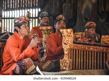 BALI, INDONESIA - JUNE 16, 2014 : Barong and Keris dance