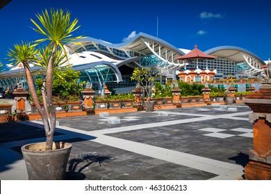 BALI, INDONESIA - June 16, 2016, Editorial Use Only. / BALI - Denpasar International Airport on tropical island Bali / Modern and comfortable Ngurah rai international airport, Bali, Indonesia