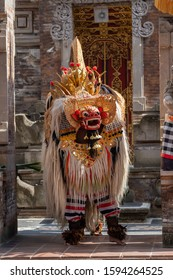 Bali, Indonesia - October 2019 - Bali tradtional Barong dance (good and evil)