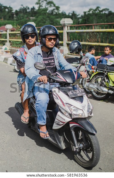 BALI, INDONESIA - SEPTEMBER 9, 2016: Motorbike's clubs gathering on Bali, Indonesia.