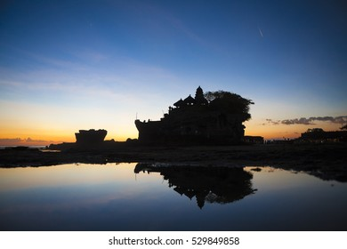 Bali indonesia Temple Tanah Lot at dawn