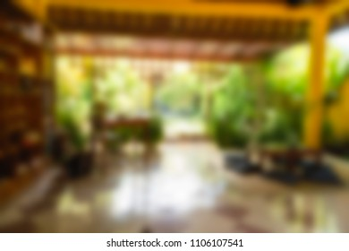 Bali Indonesia Travel theme creative abstract blur background with bokeh effect
