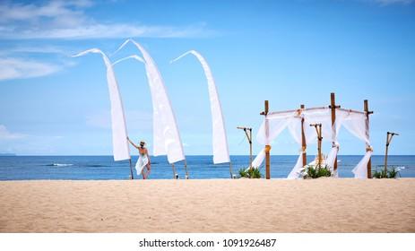 Bali Island / Indonesia - 02.28.2018: Nusa Dua Beach