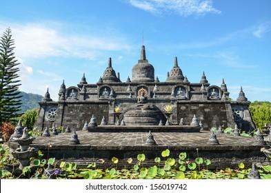 Bali landmark - buddhist temple of Banjar. exotic place of North Bali, Indonesia