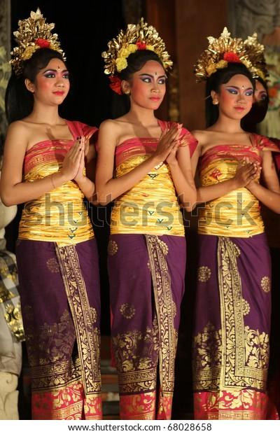 Bali November 6 Girls Performing Traditional Stock Photo Edit Now