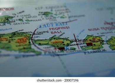 Bali Island Map Stock Photos Images Photography
