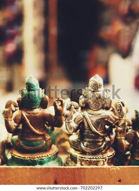 Bali souvenir, Balinese market, brass Ganesha Back Side.