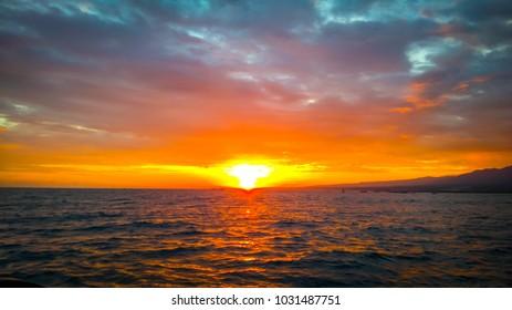 bali sunrise over ocean
