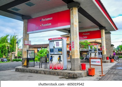 Bali,Indonesia-May 30,2010:View of Pertamina petrol station in Bali,Indonesia on 30th May 2010.It is the largest producer & exporter of Liquefied Natural Gas (LNG) in Indonesia,Asian.