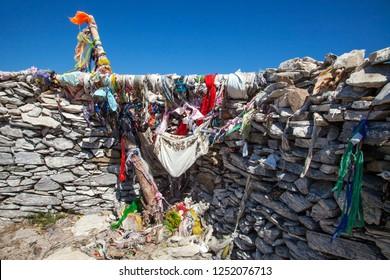BALIKESIR, TURKEY- August ,25  2013 : The place where is located the tomb of sarikiz and today is Sarikiz Hill . Sarikiz holy place in mount ida of Edremit town at Balikesir, Turkey