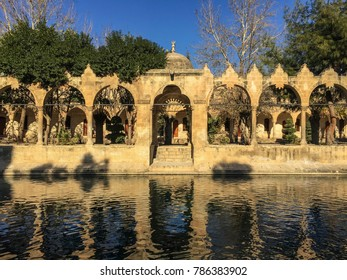 The Balikli Gol (also called the Holy Pool of Prophet Abraham), located in the center of Urfa - Turkey. Mosque of Halil-ur-Rahman Reflection on Abraham's Pool Fish Lake