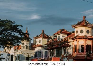 balikpapan, Indonesia 05 28 2021 : Landmark and Citylife in the middle of Balikpapan city.