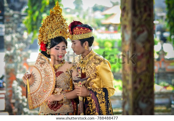 Balinese Couple Do Prewedding Using Modern Stock Photo Edit Now
