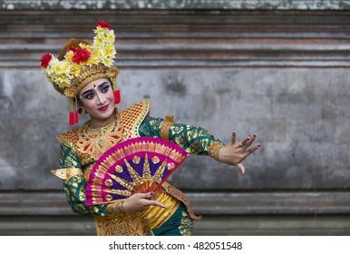 balinese dancer posing for the camera