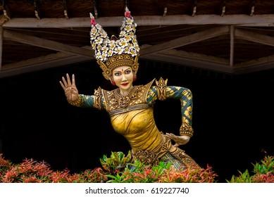 Balinese dancer statue