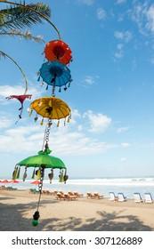 Balinese Decorations, Seminyak Beach, Bali, Indonesia