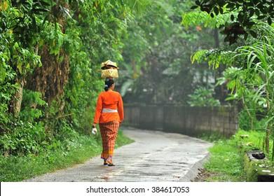 Balinese Kebaya Women in Village, Bali, Indonesia