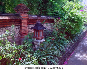 Balinese Style of the Garden On The Roadside At Pemuteran Village North Bali