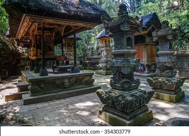 Balinese temple in Ubud Sacred Monkey Forest on Bali