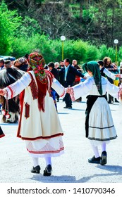"Balkan traditional folk round dance ""Hora""."
