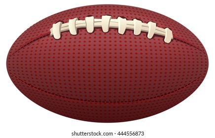 Ball for American football. Isolated on white illustration