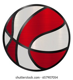 ball basketball sport sphere red white color