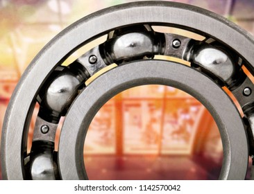 Ball Bearing on background