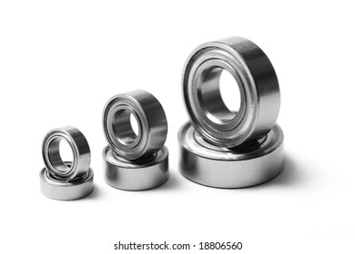 Ball bearings, isolated on white