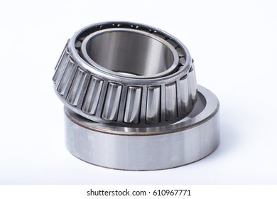 Ball Bearings , Spherical Bearings , Tapered roller bearing and cylindrical bearings on isolated background