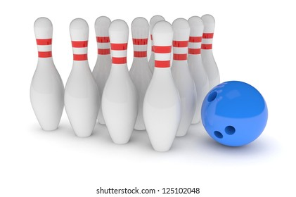 Ball and the bowling pins
