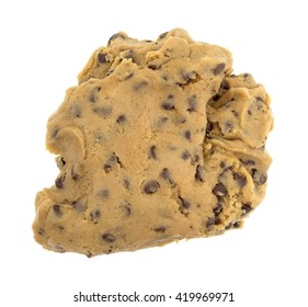 A ball of chocolate chip cookie dough isolated on a white background.