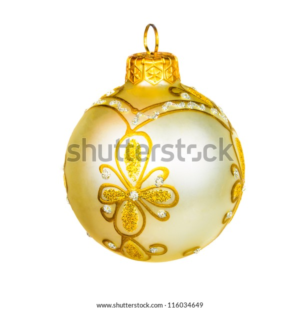 Ball for the Christmas tree. The photo on the white background