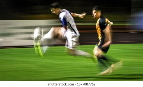 ball flying control during a soccer match