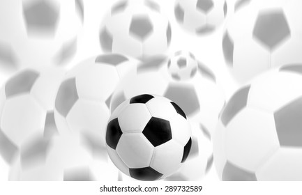 Ball for the game of football on a green background