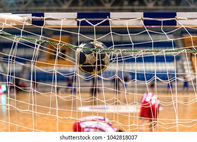 The ball in the gates for handball
