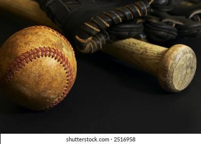 ball glove bat