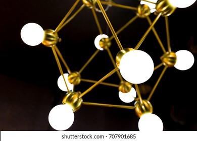 Ball hexagon Chandelier with dark background