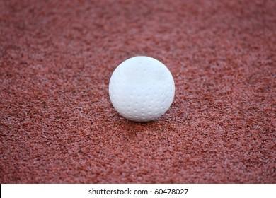 Ball hockey on artificial turf