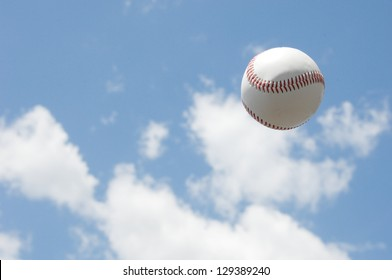 A ball into the sky