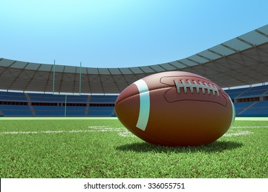 Ball lying on the 30 yd line.