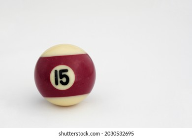 Ball number fifteen is one of the fifteen billiard ball numbers