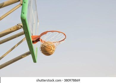 ball on goal,basketball
