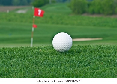 Ball on the golf course