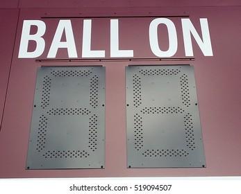 ball on part of a scoreboard